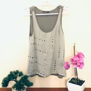 Grey Night out Top from Anthropologie